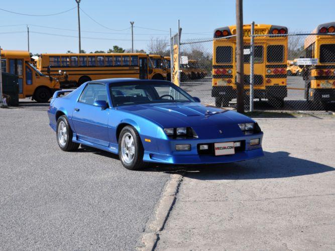 1991 Chevrolet Camaro Z28 Muscle Classic Blue USA 4200x3150-01 wallpaper