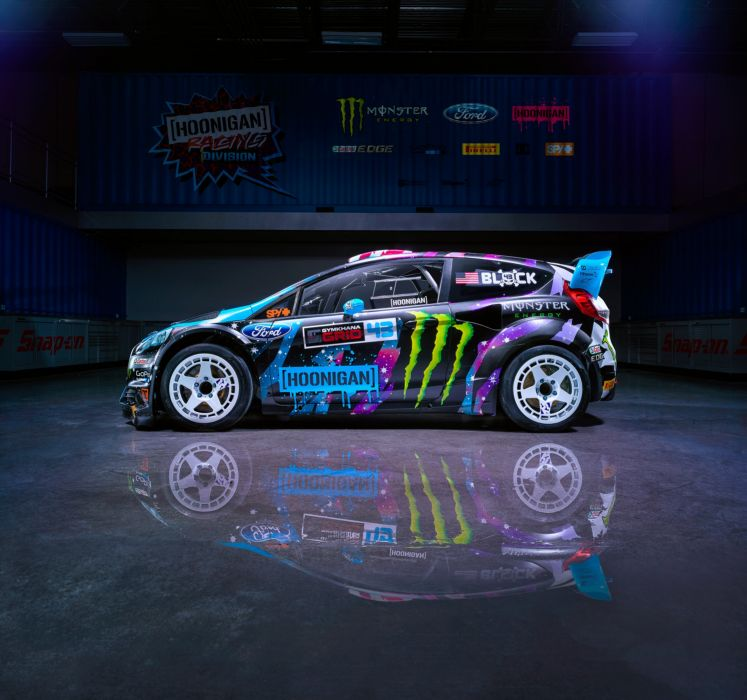 Ford Fiesta RX43 2015 Ken Block Hoonigan Racing Division Rear sport cars motors colors race wallpaper