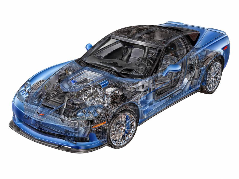 Chevrolet Corvette ZR1 c6 cars technical wallpaper