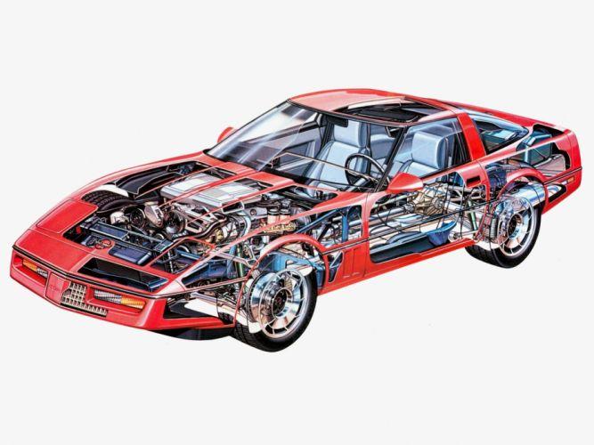 Chevrolet Corvette ZR1 Coupe c4 cars technical wallpaper