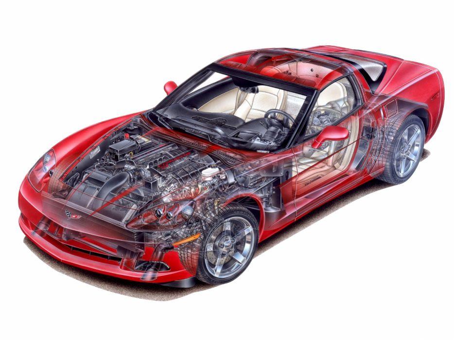 Corvette Coupe c6 cars technical wallpaper