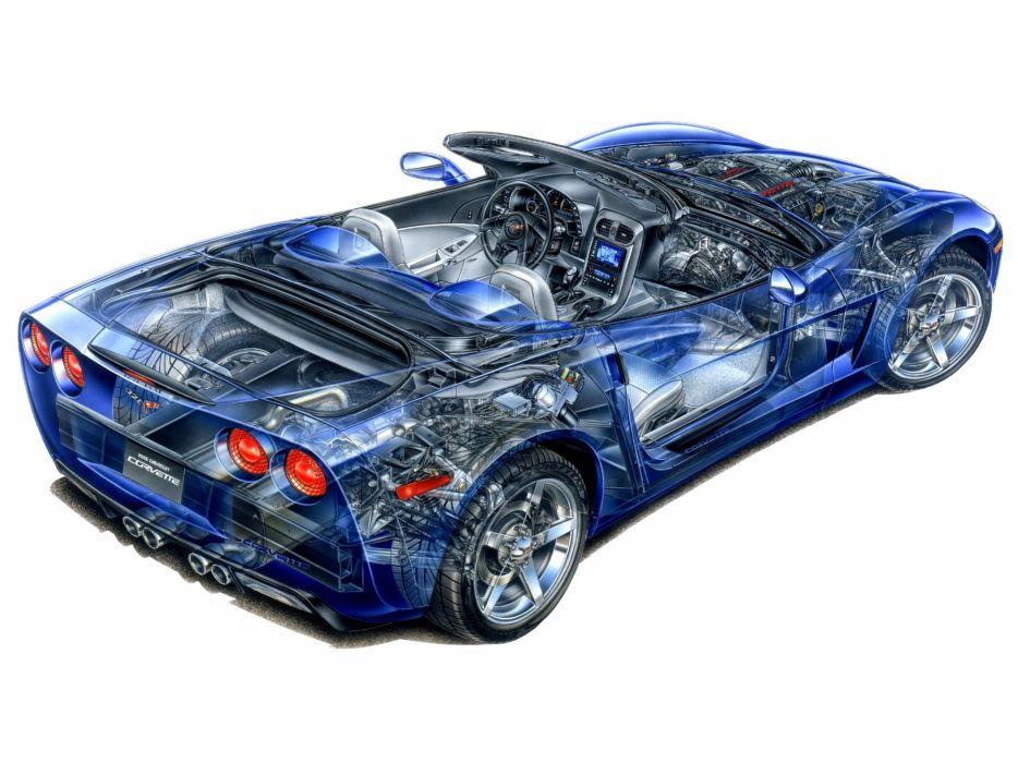 Corvette Convertible c6 cars technical wallpaper