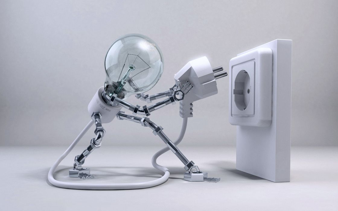 Lamp plug power technology robot imaginations mood wallpaper