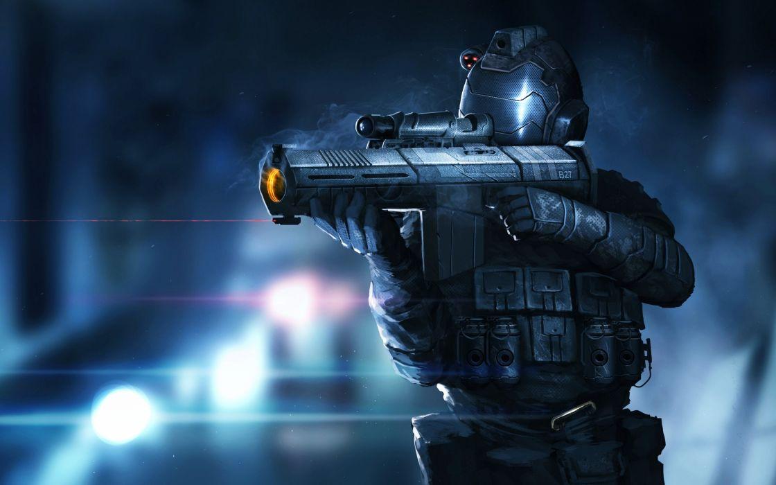 art gun fighter wars fires Shield fantasy imaginations wallpaper