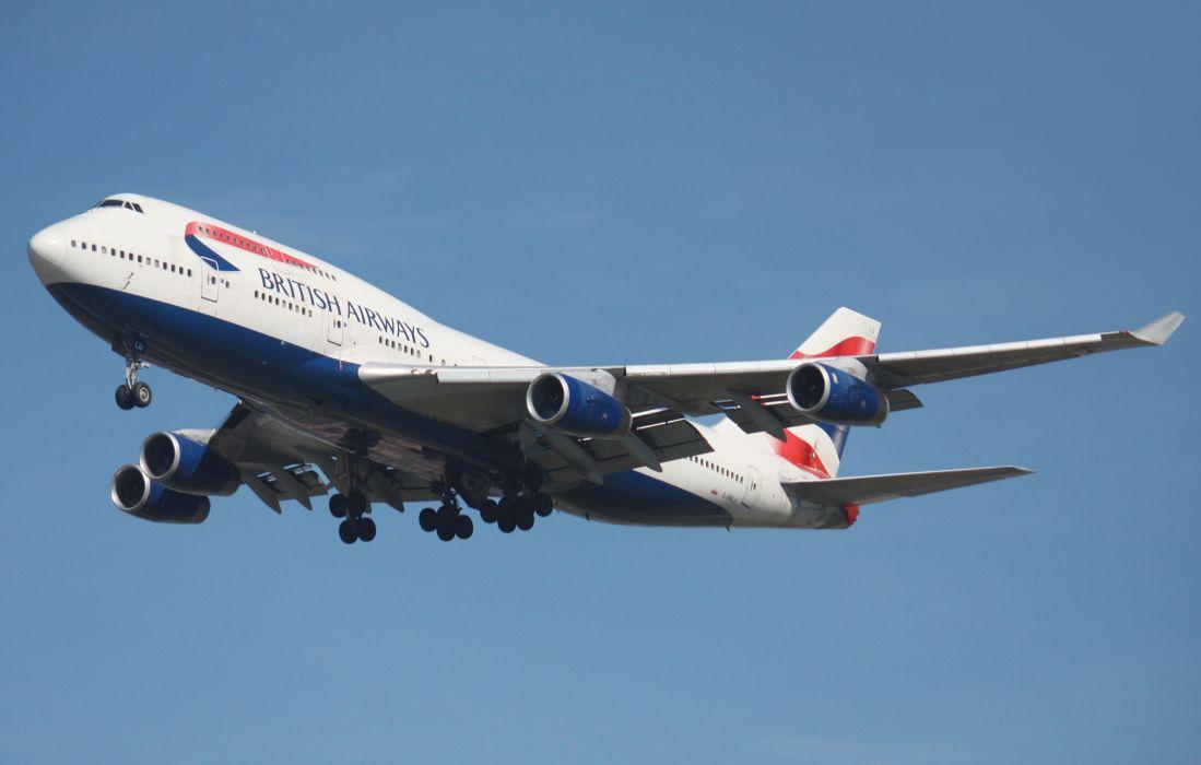 boeing 747 britanico avion wallpaper