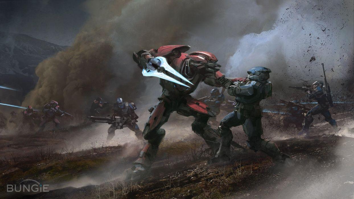 halo elite killing spartan wallpaper