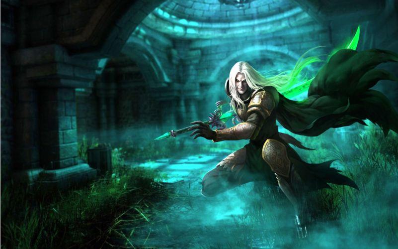 NOVA GENESIS fantasy mmo rpg sci-fi action adventure fighting 1nova magic wallpaper