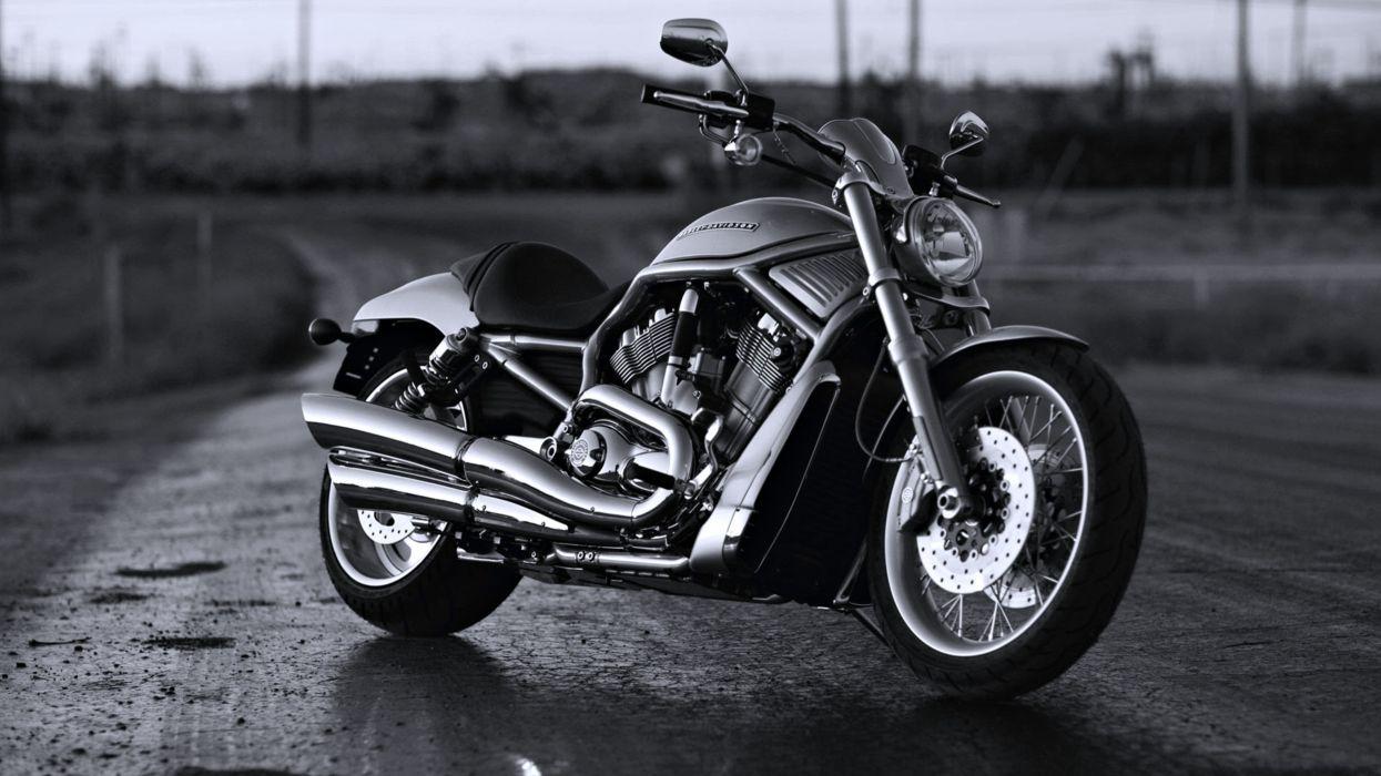 Bike black chopper davidson harley motorcycles classic road Speed motors wallpaper