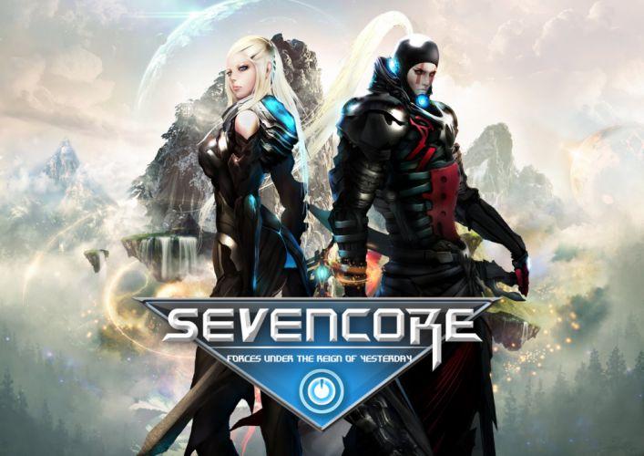 SEVENCORE ONLINE sci-fi mmo rpg action fighting adventure fantasy warrior 1sevenc wallpaper