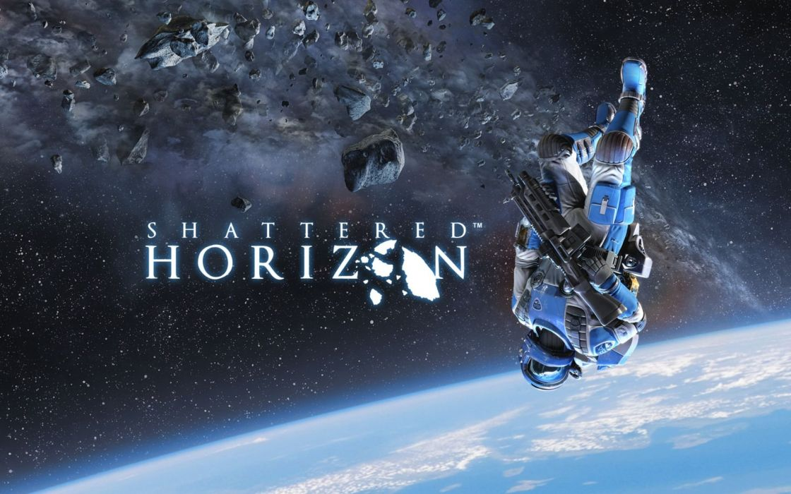 SHATTERED HORIZON sci-fi strategy mmo online space apocalyptic 1shatt tactical astronaut poster wallpaper