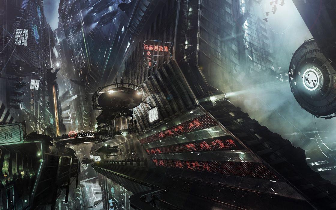 Sci Fi City Cities Artwork Art Futuristic Wallpaper