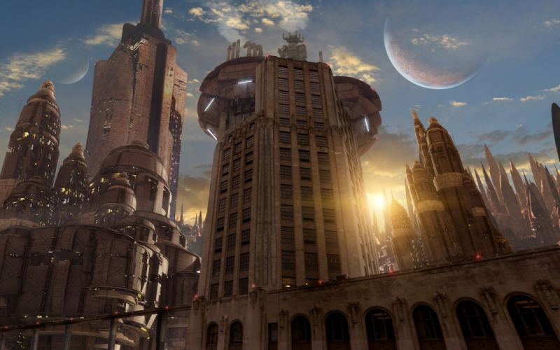 sci-fi city cities artwork art futuristic wallpaper