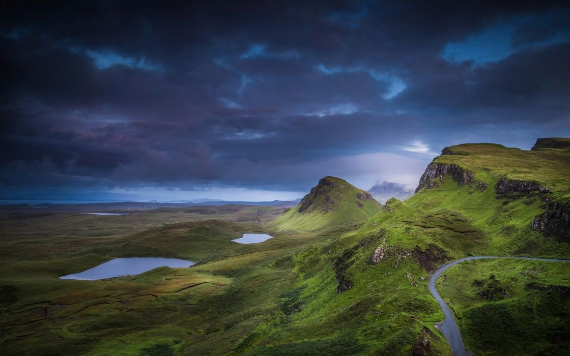 scotland isle of skyeshotlandiya dark stormy wallpaper