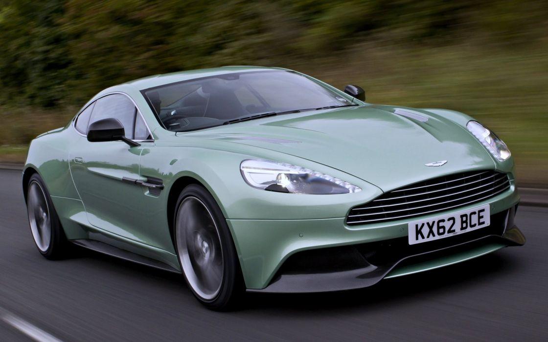 Aston Martin supercars cars speed motors green road wallpaper