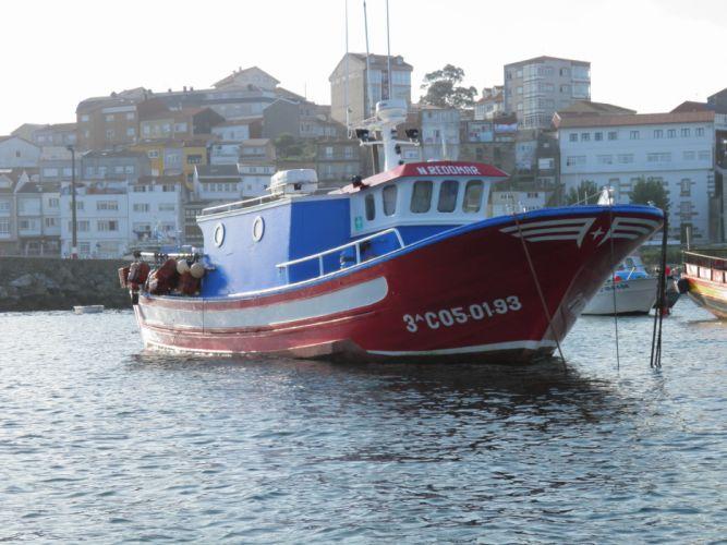 barco pesca mar puerto ciudad wallpaper