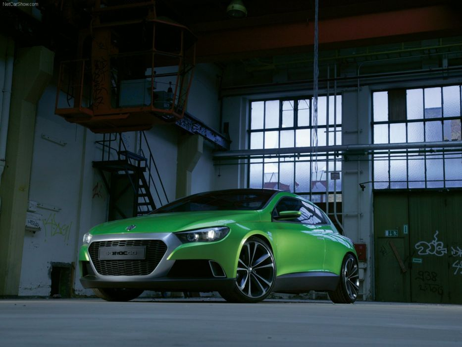 art cars Concept Green iroc scirocco volkswagen 2006 wallpaper