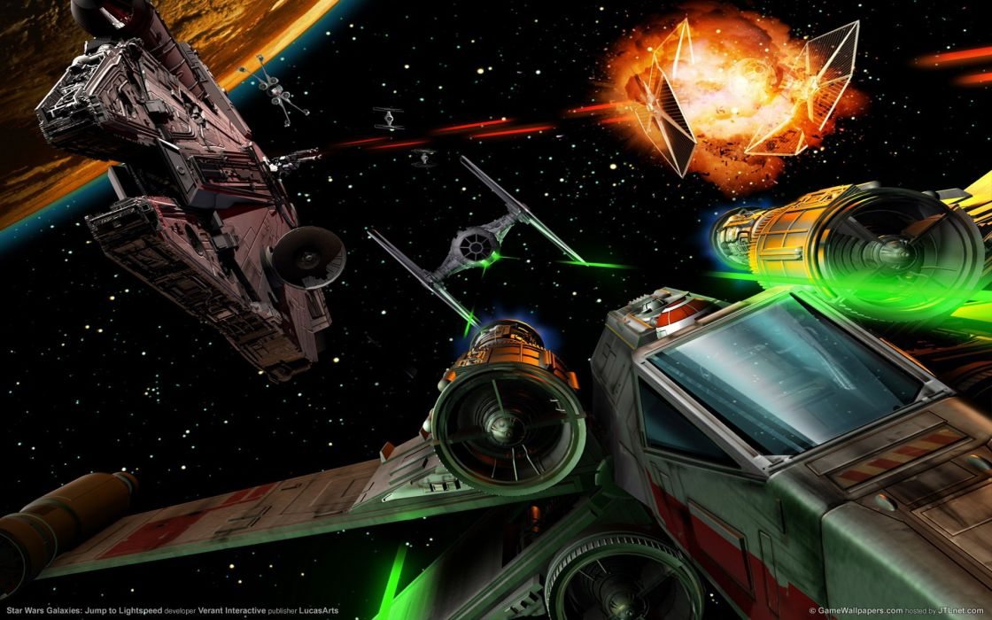 STAR WARS Galaxies sci-fi mmo rpg action fighting adventure 1swg space online trading card spaceship wallpaper