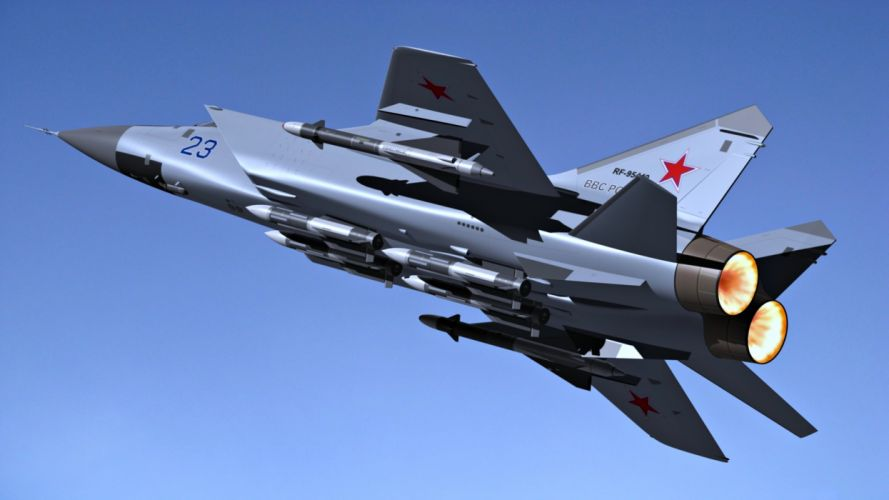 MiG-31 double fighter interceptor russia aircrafts wars wallpaper