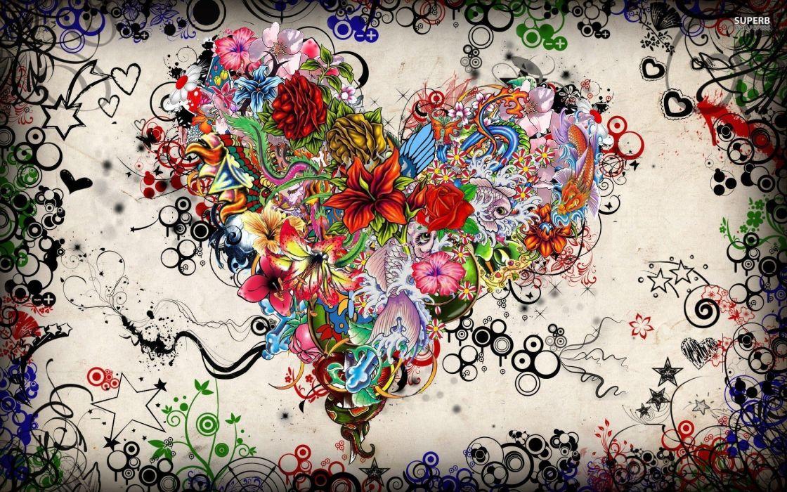 Tattoo Hearts wallpaper