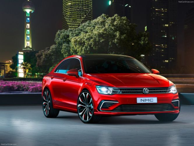 Volkswagen New Midsize Coupe Concept cars 2014 wallpaper