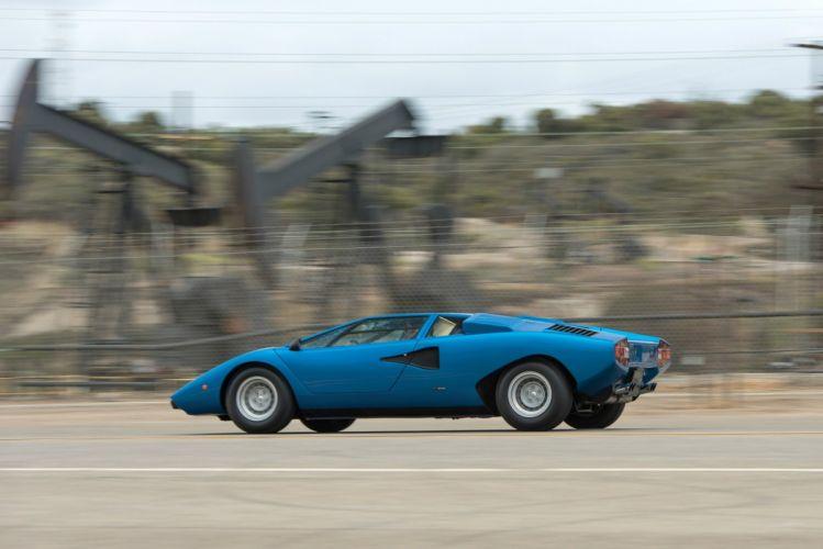 Lamborghini Countach LP400 supercars cars classic blue wallpaper