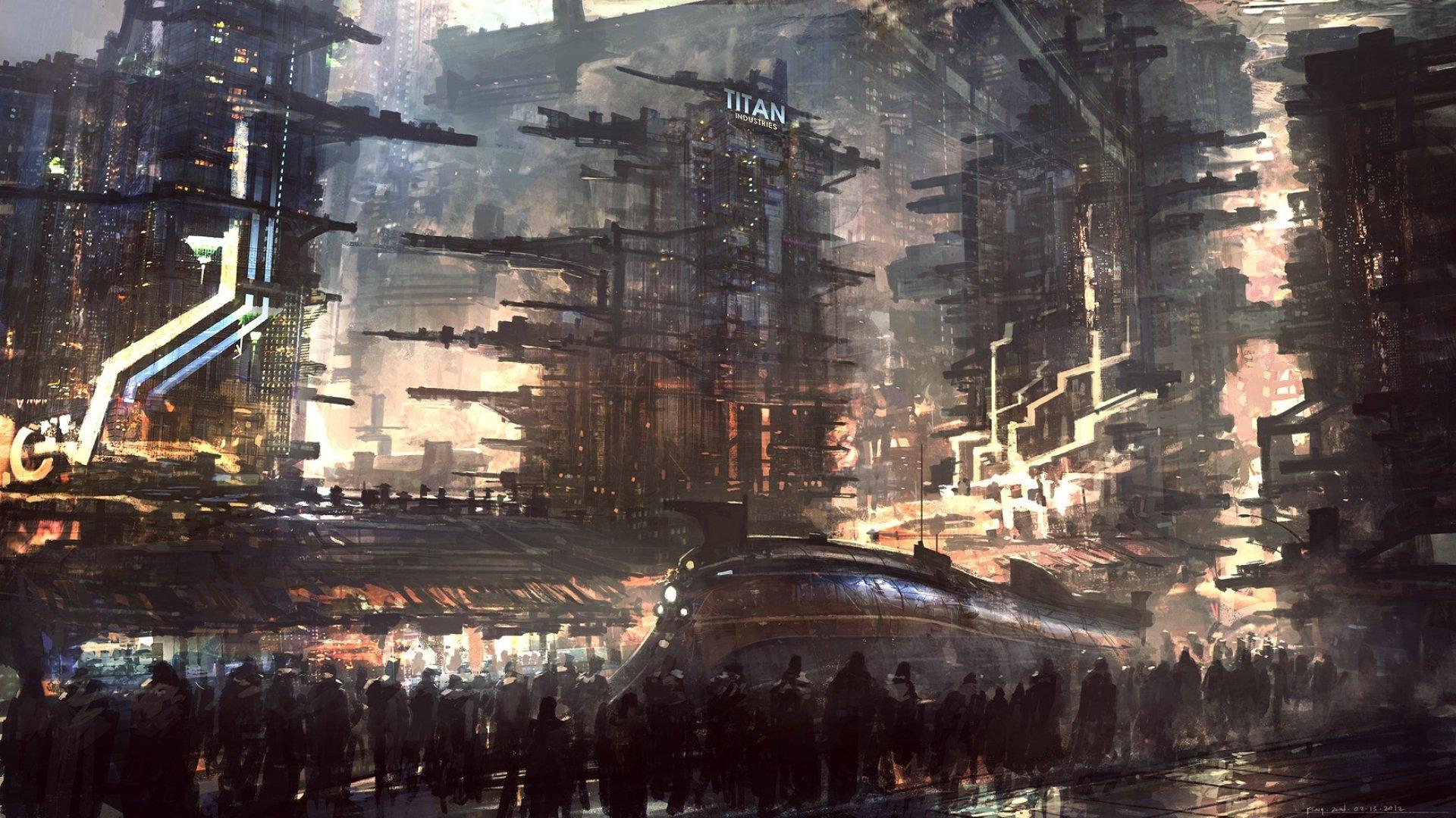 sci-fi futuristic city cities art artwork