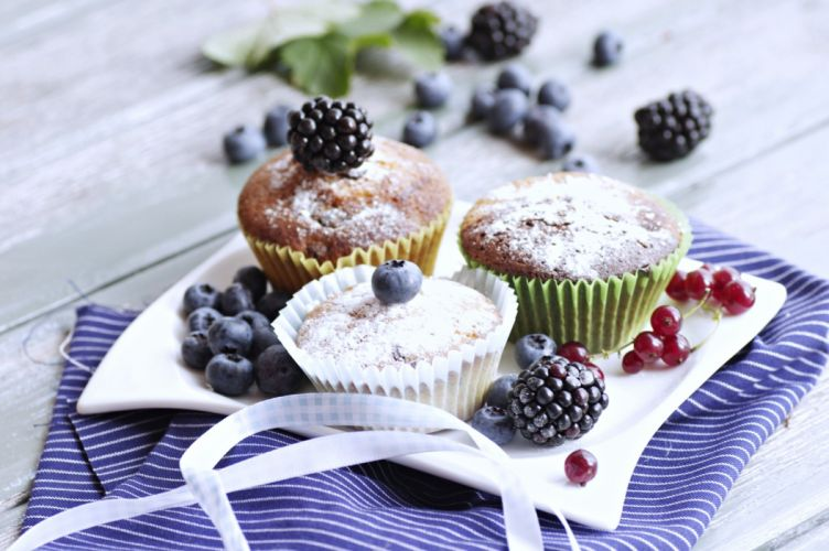 Cakes blueberry fruit refreshments sweets food delicious Madeleine wallpaper