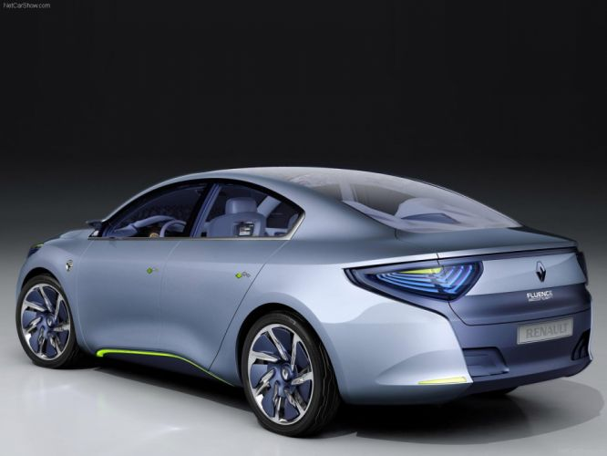 Renault Fluence ZE Concept electric cars 2009 wallpaper