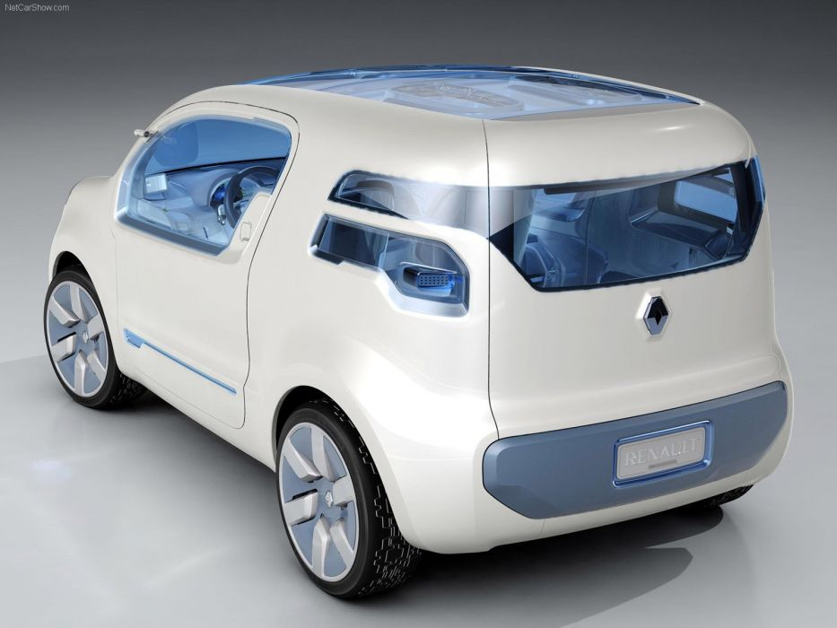 Renault kANGOO ZE Concept cars van electric 2009 wallpaper