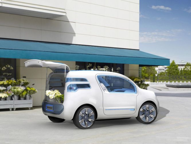 Renault kANGOO ZE Concept cars van electric 2009 wallpaper