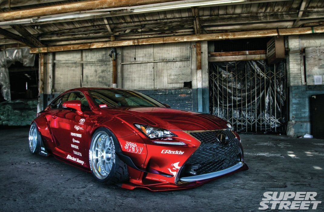 Rocket Bunny 2015 Lexus RC-F Sport tuning bodykit wallpaper