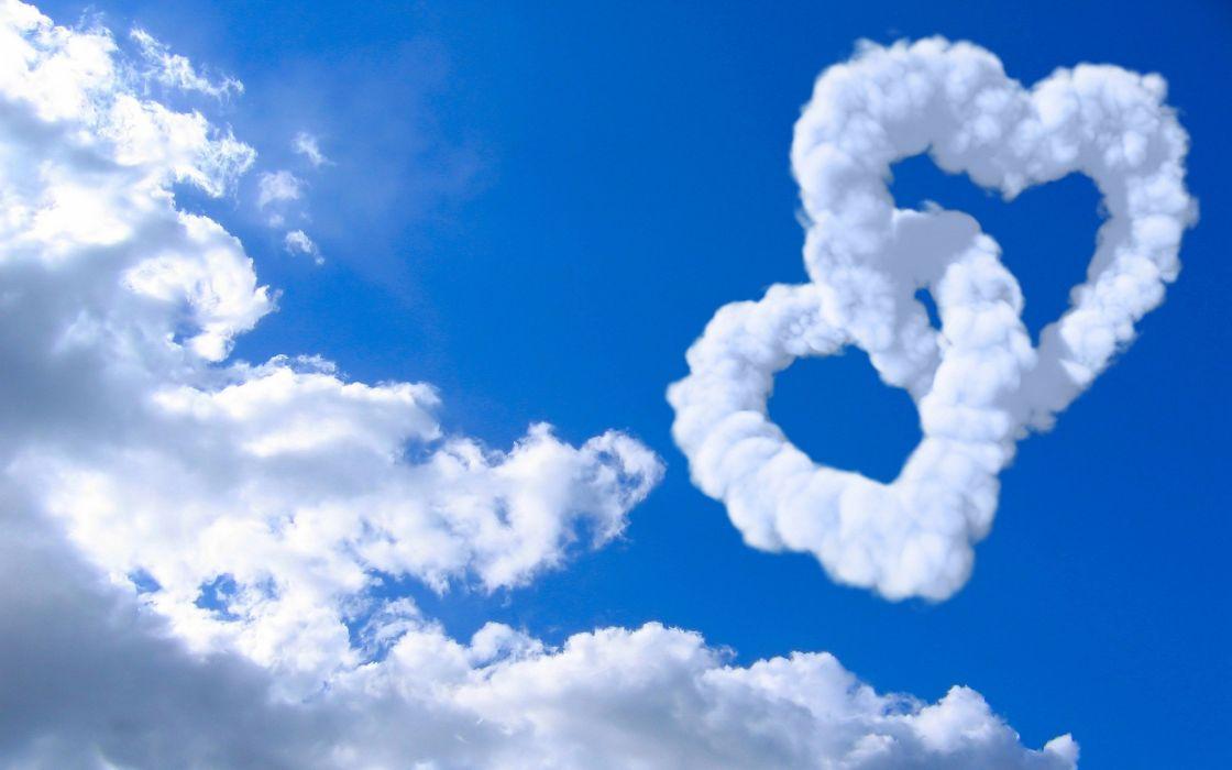corazones cielo nube amor wallpaper