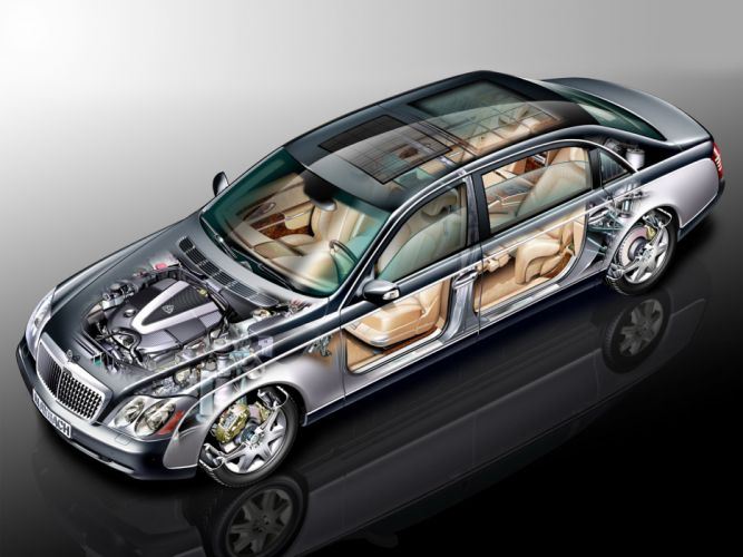 Maybach 62 2002 luxury cars technical wallpaper