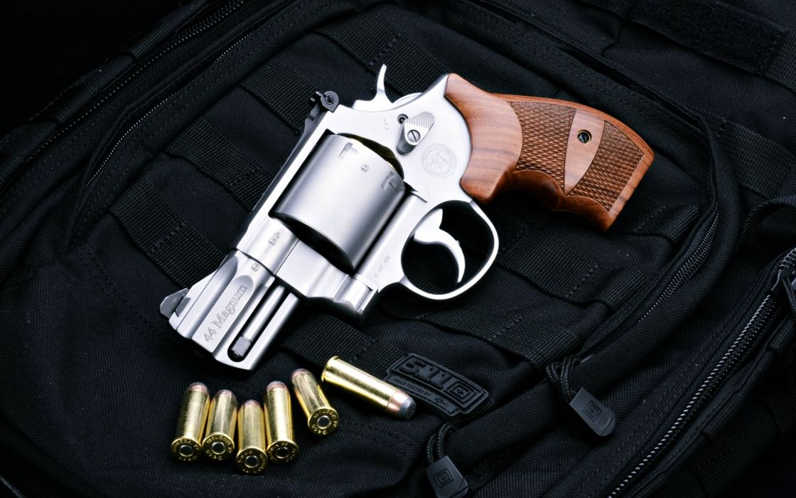warrior pistol Weapon ammunition bullets black police army military revolver Smith Wesson wallpaper