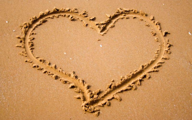 corazon arena dibujo amor wallpaper