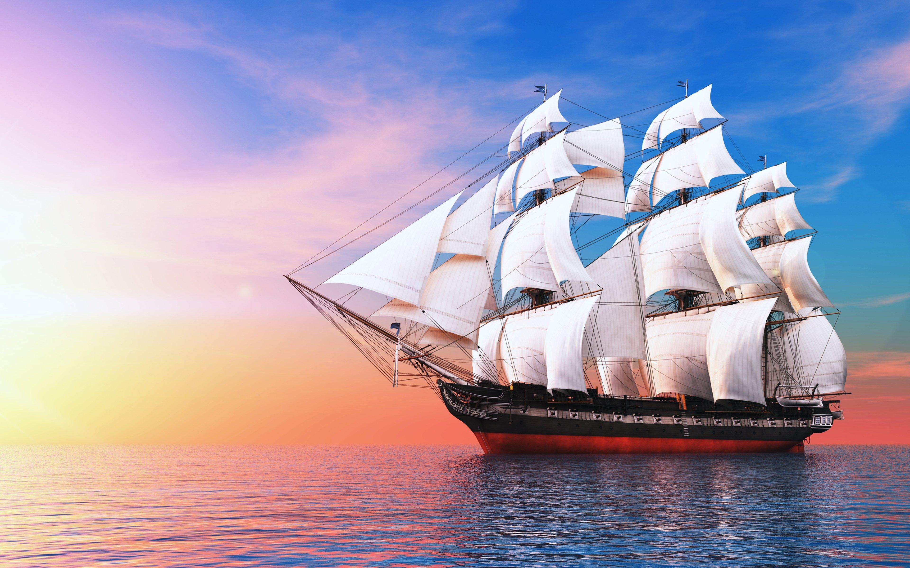 3840x2400 wallpaper ocean boat - photo #15