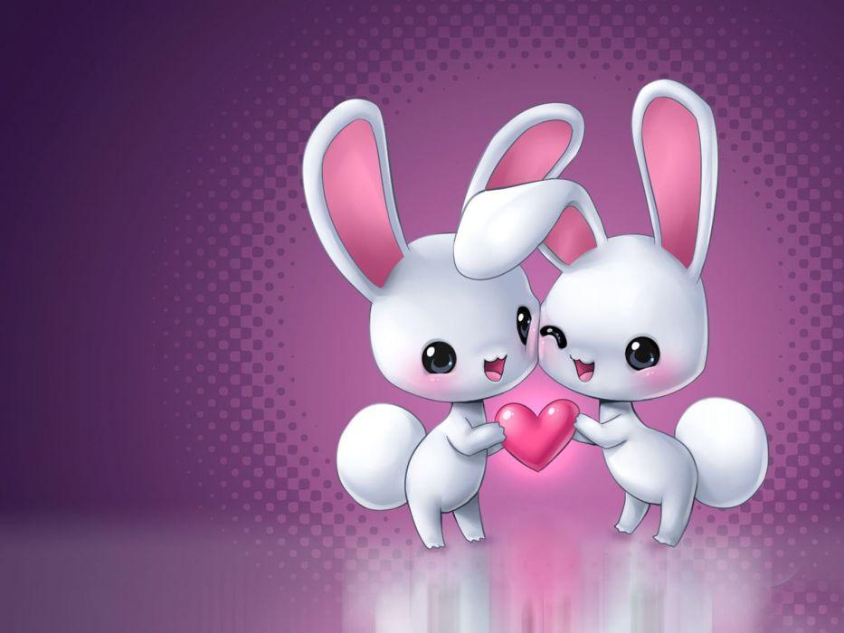 conejitos corazon amor wallpaper