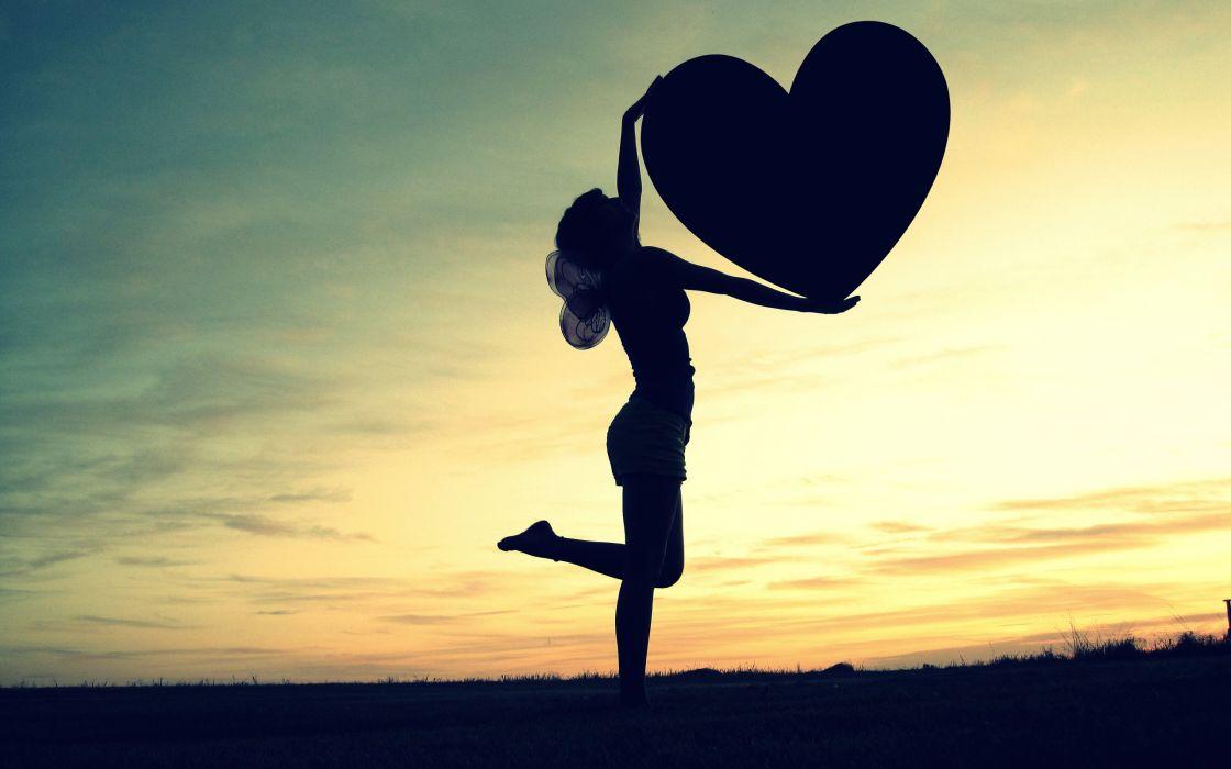corazon chica amor wallpaper