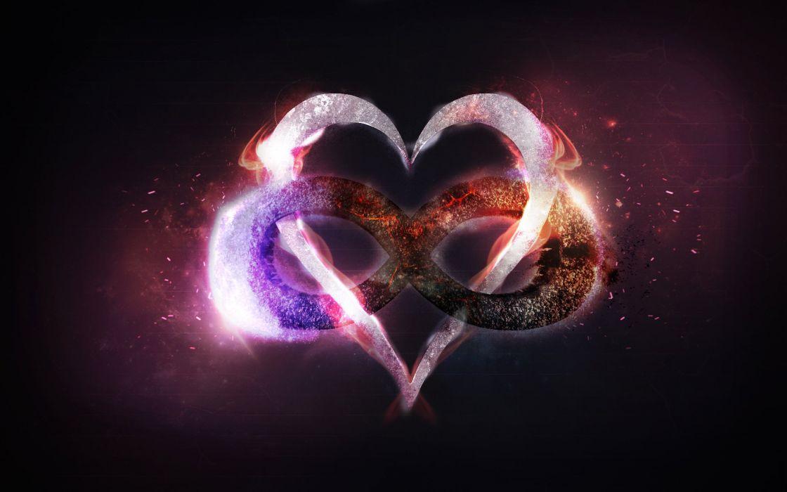 anillos corazon fuego fantasia wallpaper