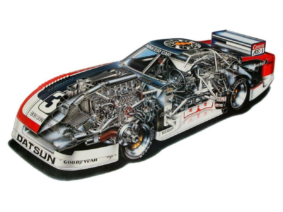 Datsun Silhouette Formula IMSA GTU technical cars wallpaper