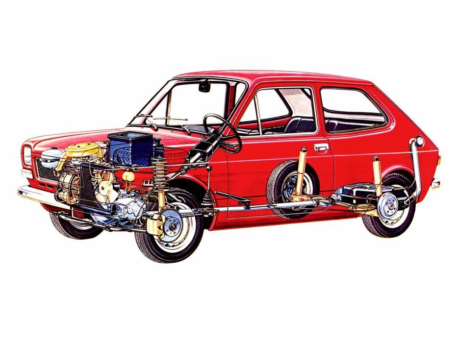 fiat 127 technical cars wallpaper