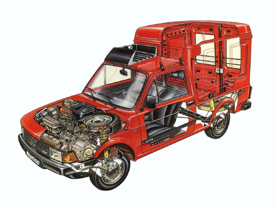 Fiat Fiorino van delivery technical cars wallpaper