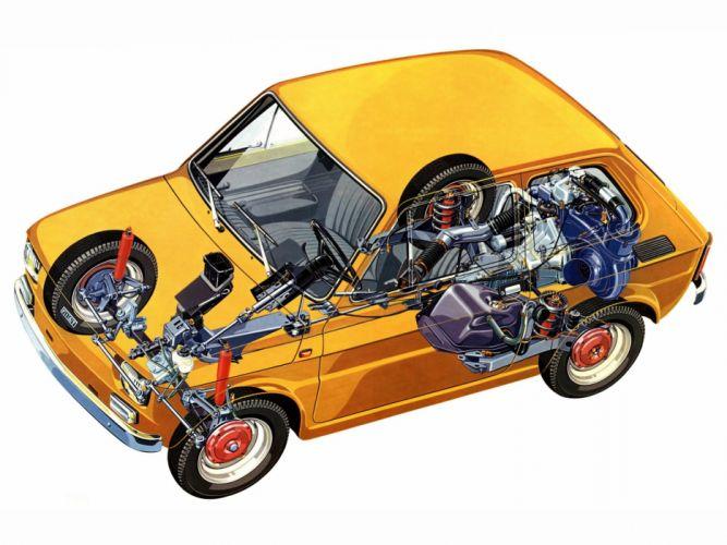 fiat 126 technical cars wallpaper