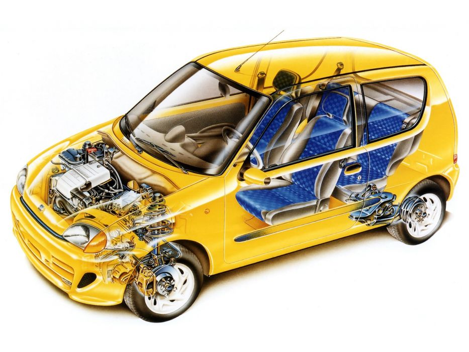 Fiat Seicento Sporting Technical Cars Wallpaper