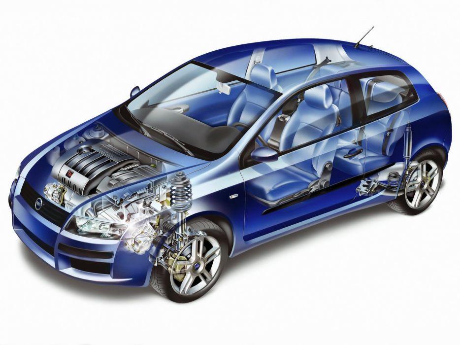 Fiat stilo 5-doors technical cars wallpaper