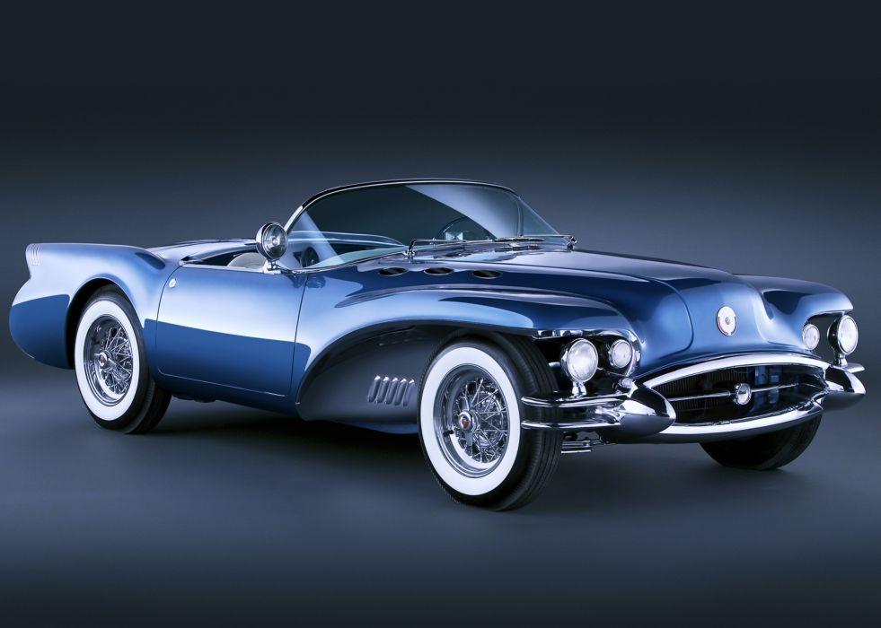 buick wildcat cars auto blue motors old classic wallpaper