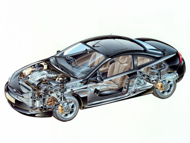 Ford Cougar cars technical wallpaper