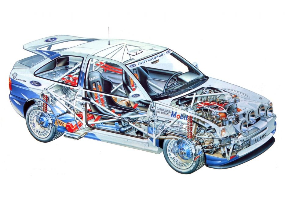 Ford Escort RS Cosworth Rally Car technical wallpaper | 1600x1200 ...
