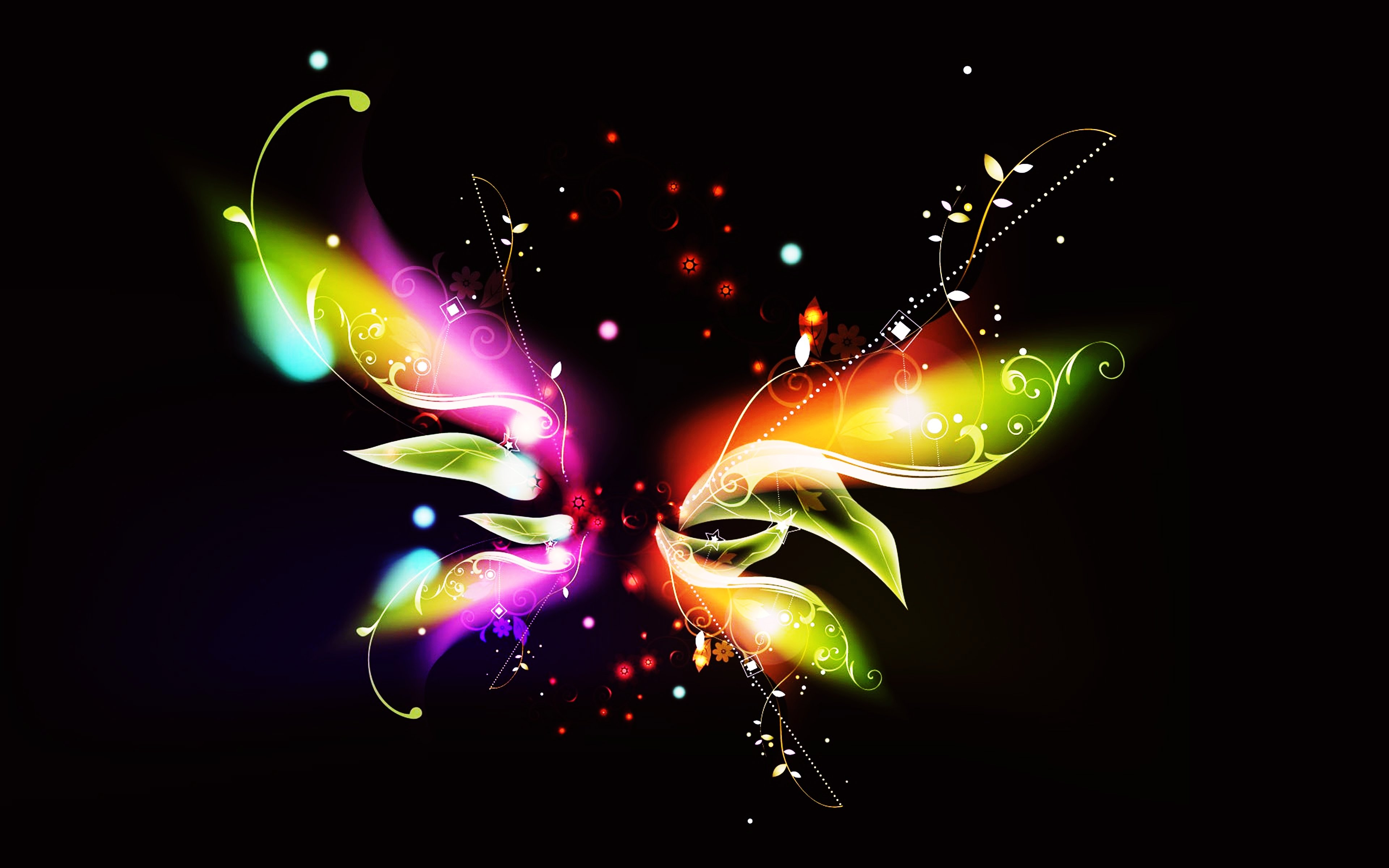 Abstract Background Colors Lights Stars Wallpapers Butterfly Wallpaper