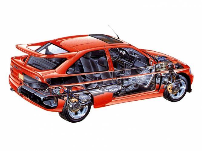 Ford Escort RS Cosworth car technical wallpaper